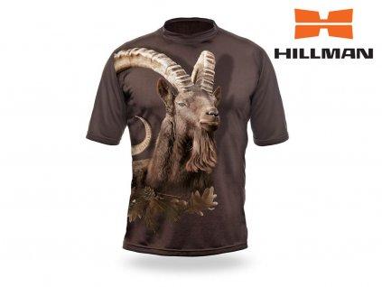 Myslivecké tričko kr. rukáv Kozorožec 3D b. Dub (velikosti 2XL)