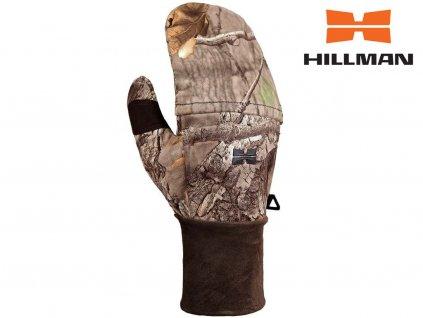 Windproof flap gloves lovecké rukavice s klopou b. 3DX kamufláž (Velikosti rukavic 2XL)