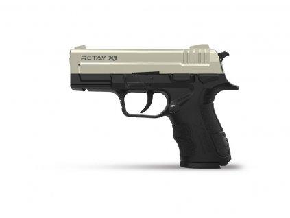 Plynová pistole Retay X1 9 mm P.A.K. - satén