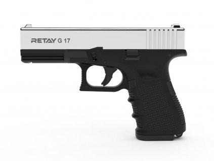 Plynová pistole Retay G 17 9 mm P.A.K. - nikl