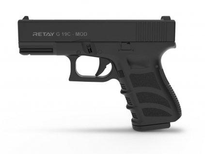 Plynová pistole Retay G 19 9 mm P.A.K. - černá