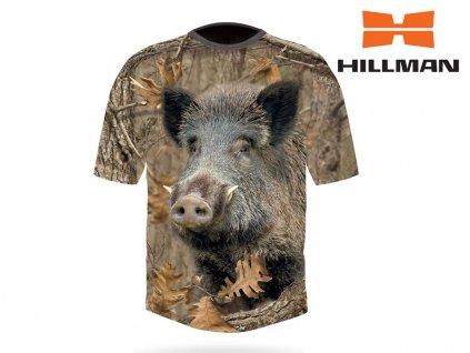 Myslivecké tričko bavlna DGT Divočák b. Kamufláž (Velikost 2XL)