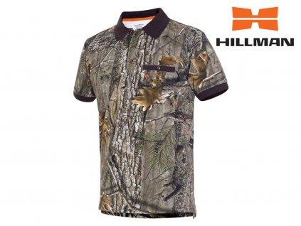 Myslivecké tričko s límečkem kr. rukáv Cotton b. Kamufláž (Velikost 2XL)