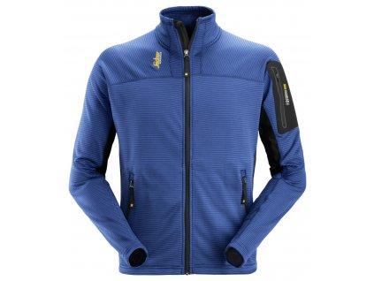 Mikina funkční Mikrofleece na zip tmavě modrá XS Snickers Workwear