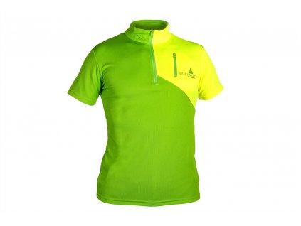 Funkční tričko IF krátký rukáv, zeleno - žluté, vel.XXXL