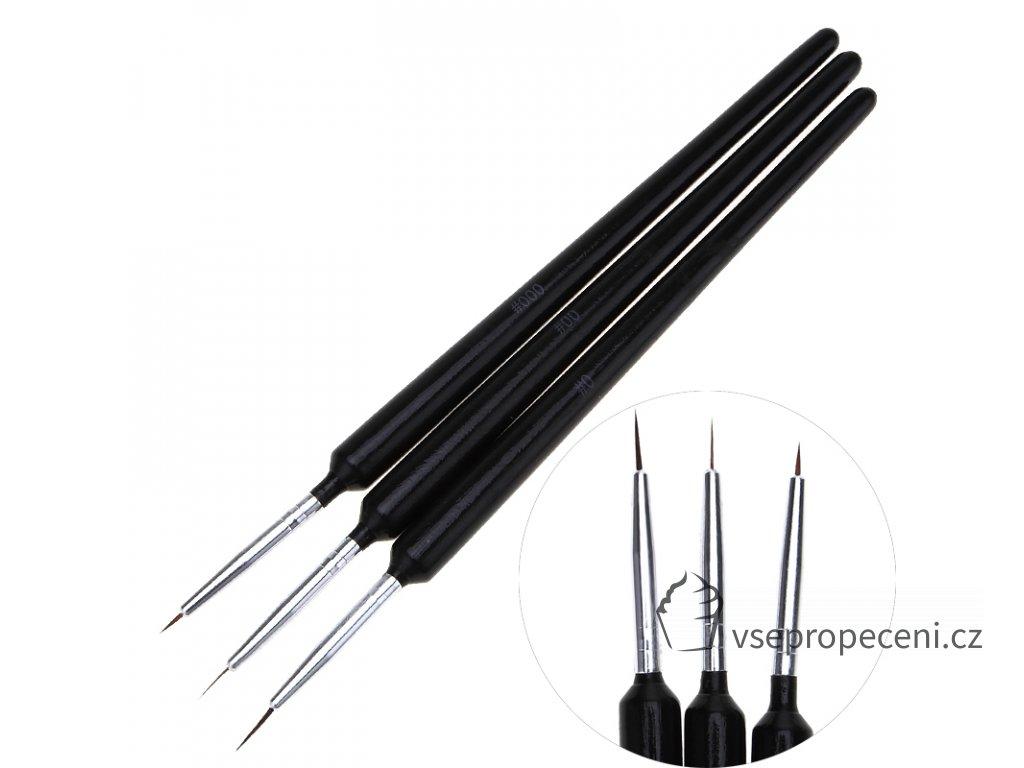 3pcs set Nail Brushes Drawing Painting Dotting Finger Brush UV Gel Polish Set For Fingernail DIY