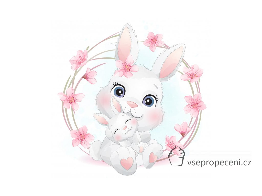 cute little bunny mother baby 102385 387