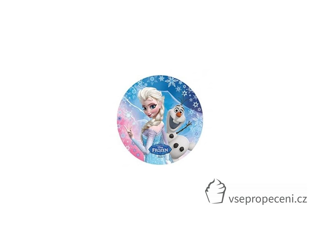 modecor nbsp modecor disney frozen elsa and olaf wafer disc cake topper p4777 8615 thumb