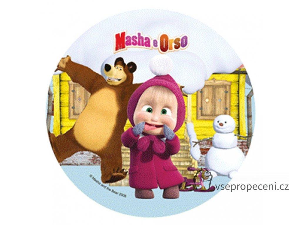 disco in pasta di zucchero per torta di masha e orso neve modecor