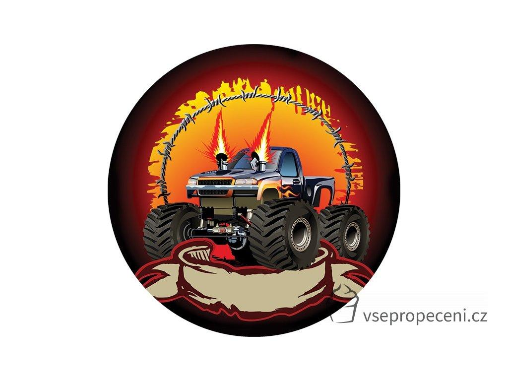monster truck flames