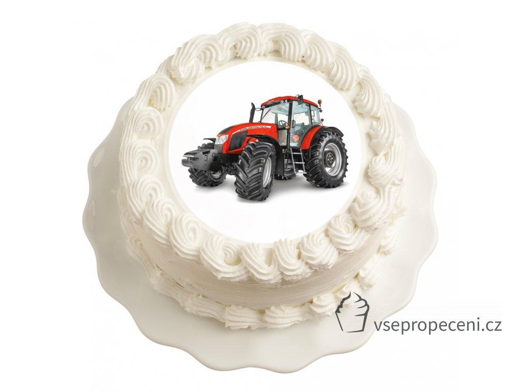 traktor cerveny
