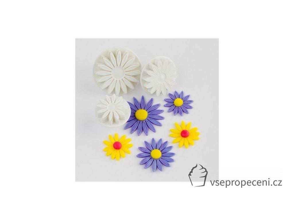 3 Pcs set Veined Sunflower font b Daisy b font Gerbera Flower font b Fondant b