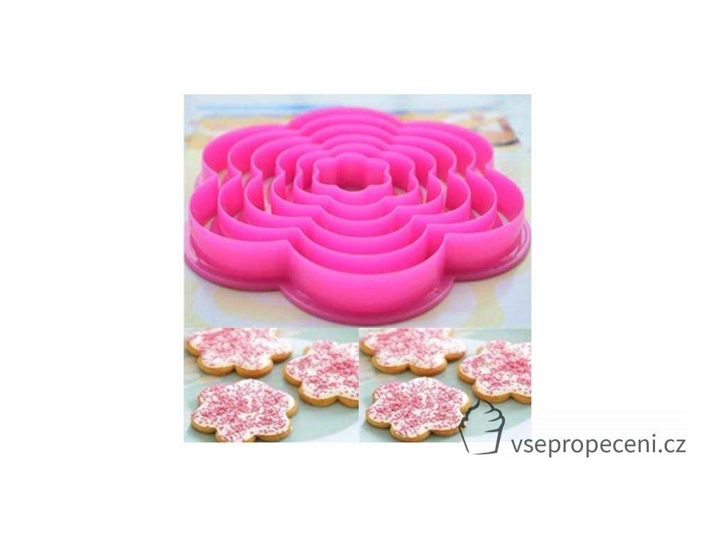 kit 6 cortadores flor rosa biscuit pasta americana bolo D NQ NP 573505 MLB25024610481 082016 O
