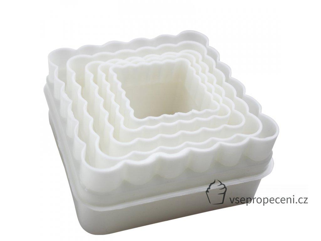 5pcs set Fondant Plastic Mould Square Shape Cookies Cutter Cake Decorating Tools Paste Mold Baking Tool 1