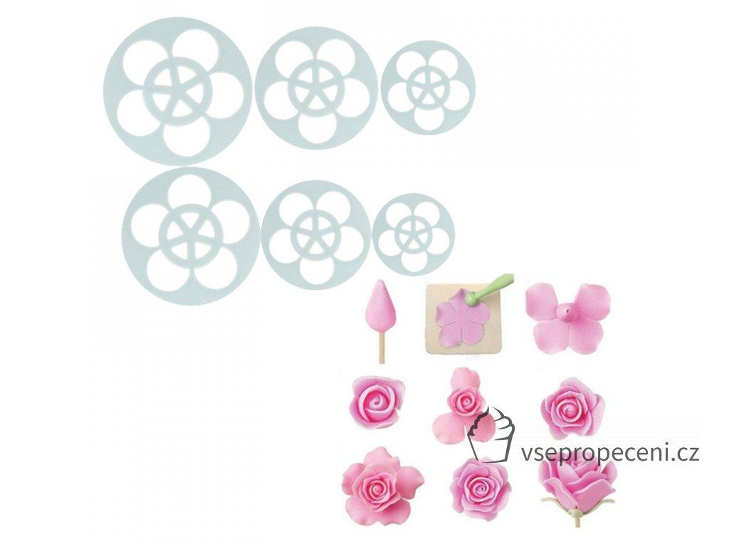 6Pcs Rose Flower Cake Pastry font b Plunger b font font b Cutters b font font