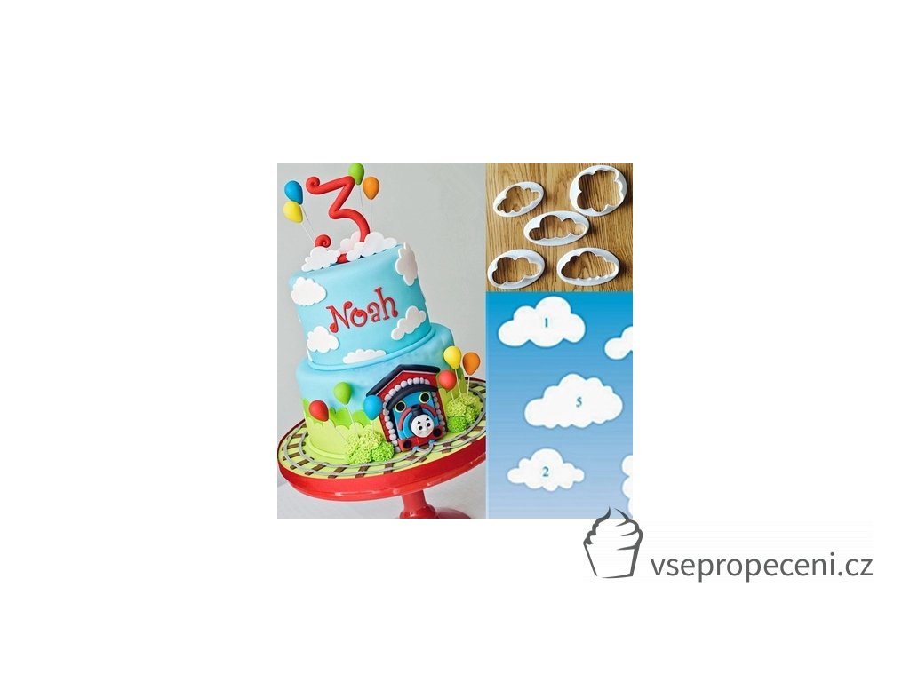 5 pcs set Fondant cutter Clouds Shape Plastic Cake Cookie Buscuit Cutter Mold Fondant Mold Cake