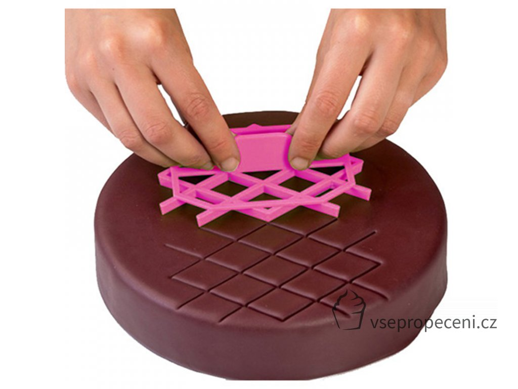 Christmas Quilt Fondant Square Cutter Lattice Cake Decoration Cupcake Embossing Tool Embosser Icing Silicone Cake Mold