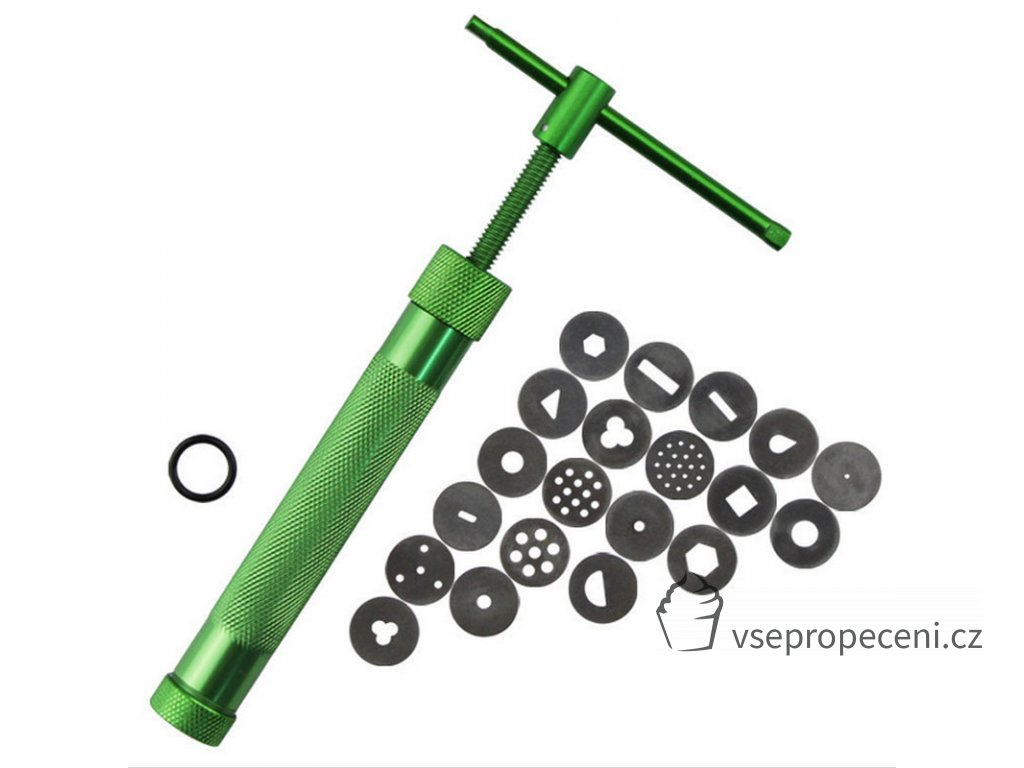 DIY Rotary Squeeze Sediment Traps Rotary Aluminum Squeeze Mud Gun Fimo Clay Dough Fondant Cream Applicable