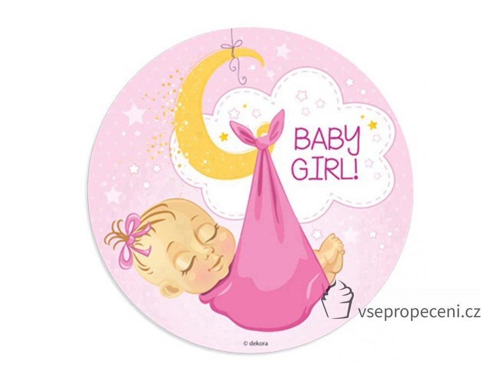 oblea baby girl 1 dekora