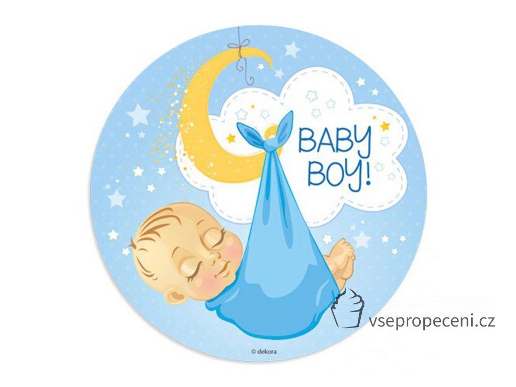 oblea baby boy 1 dekora