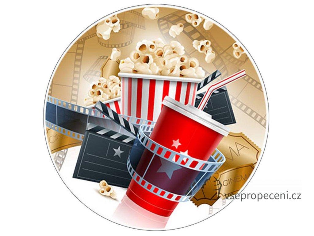 Disque azyme sucre cinema pop corn