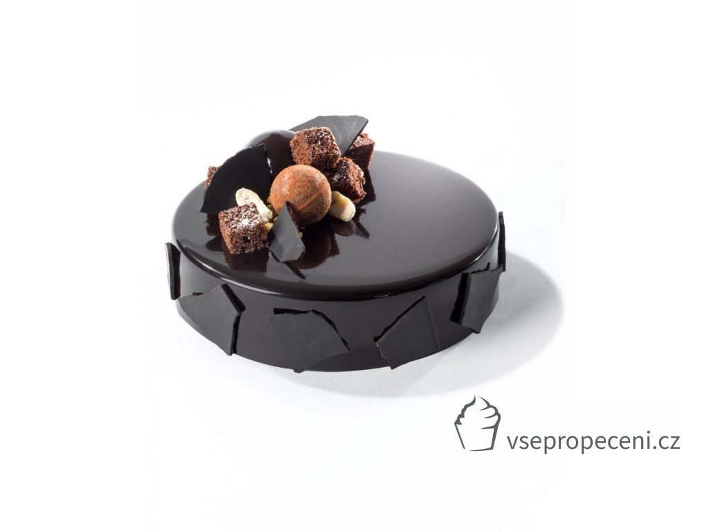 dark chocolate glaze cake big image light