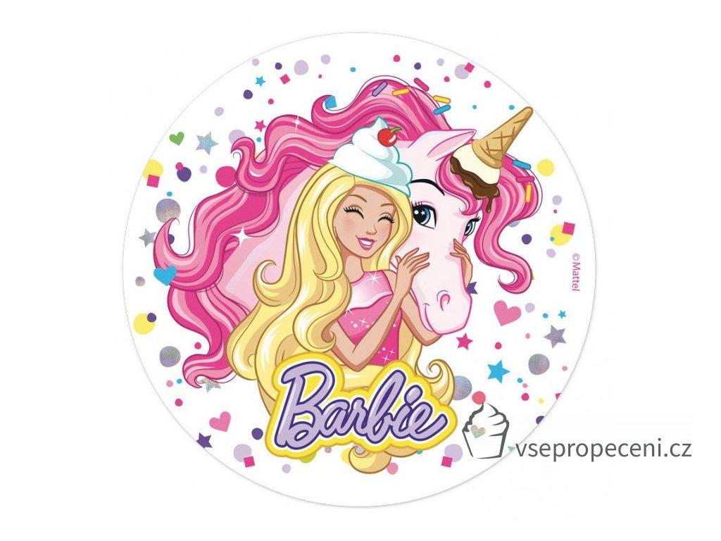 oblea barbie 1 dekora