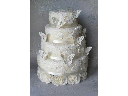 0eb974ecc844f0120c5f8136fdb9a962 butterfly wedding cake lace wedding cakes