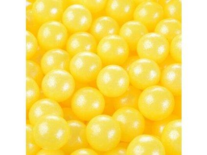 Perle Di Zucchero Perlescenti Gialle Ø 09 cm