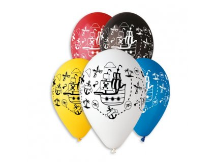 0005740 balonek s potiskem piratska lod 510