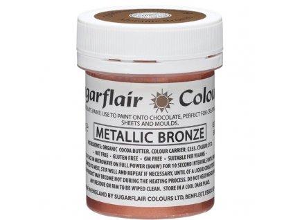 barva na kresleni na bazi kakaoveho masla sugarflair metallic bronze 35 g