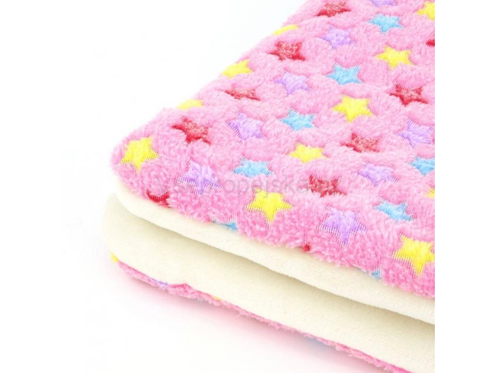 Blanket růžová deka pro psa s hvězdičkami - deky pro psy - vsepropejska.cz