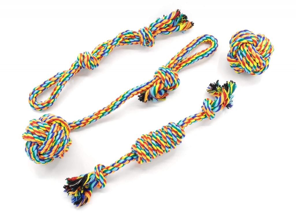 Set II barevné přetahovací hračky pro psy - hračky pro psy - vsepropejska.cz