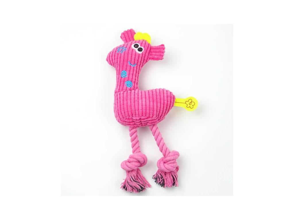 Giraffe plyšová žirafa pro psa | 21 cm - hračky pro psy - vsepropejska.cz