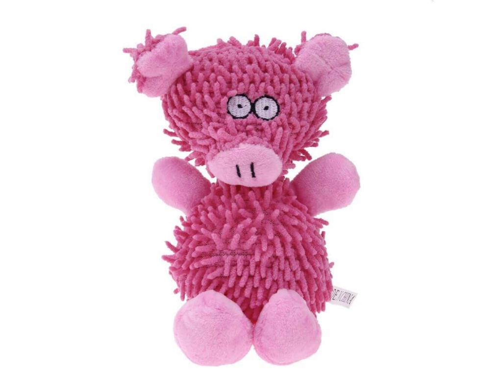 Silky růžové plyšové prasátko pro psa   20 cm - hračky pro psy - vsepropejska.cz
