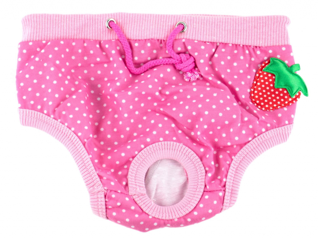 Absorb růžové látkové hárací kalhotky pro psa - hárací kalhotky pro psy - vsepropejska.cz