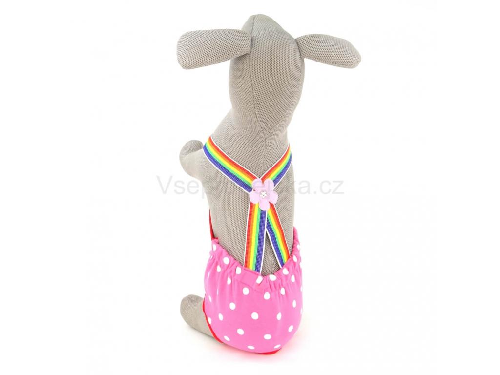 Zoe ruzove haraci kalhotky pro psa