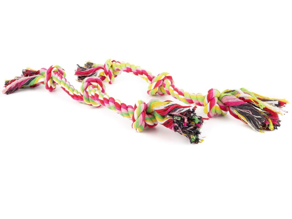 Knag přetahovací kost s uzlem pro psa | 41 cm