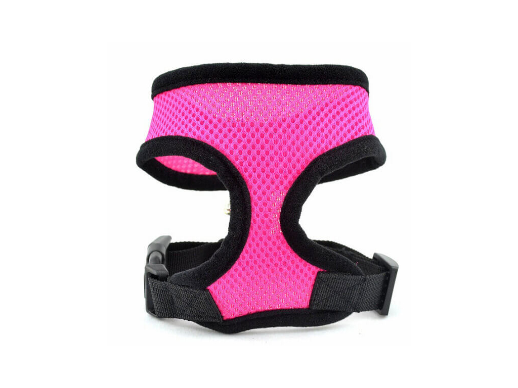 Airy růžové síťkované kšíry pro psa