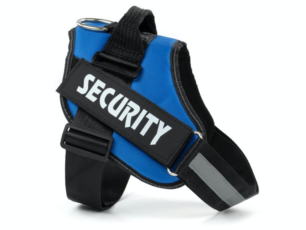 Security modrý reflexní postroj pro psa - postroje pro psy - vsepropejska.cz