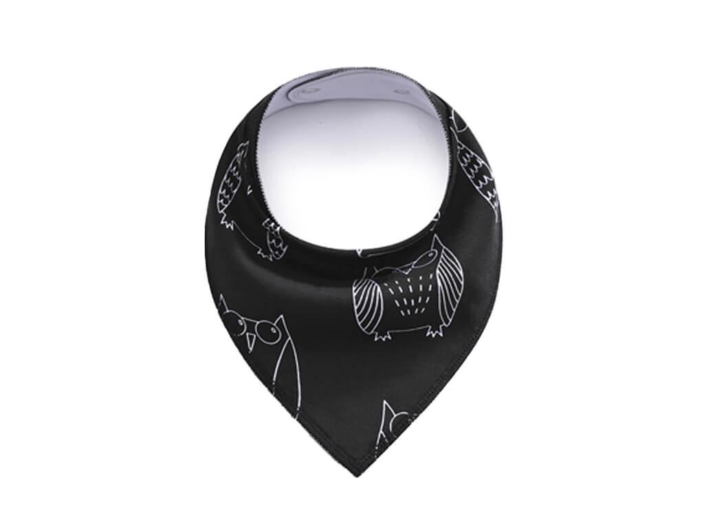 Owl černý šátek pro psa - šátky pro psy - vsepropejska.cz