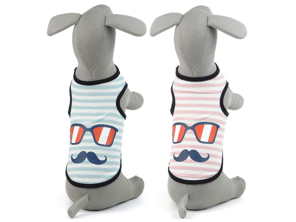Mustache pruhované tričko pro psa - oblečky pro psy - vsepropejska.cz