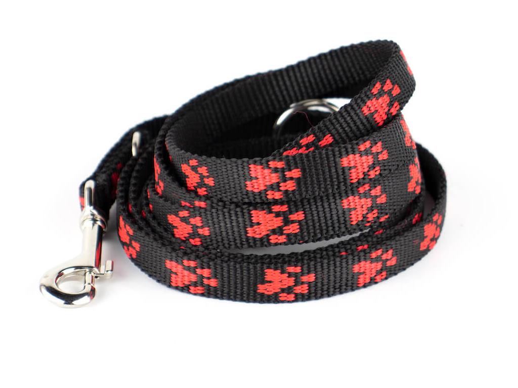 Paw černo-červené přepínací vodítko pro psa | 220 cm