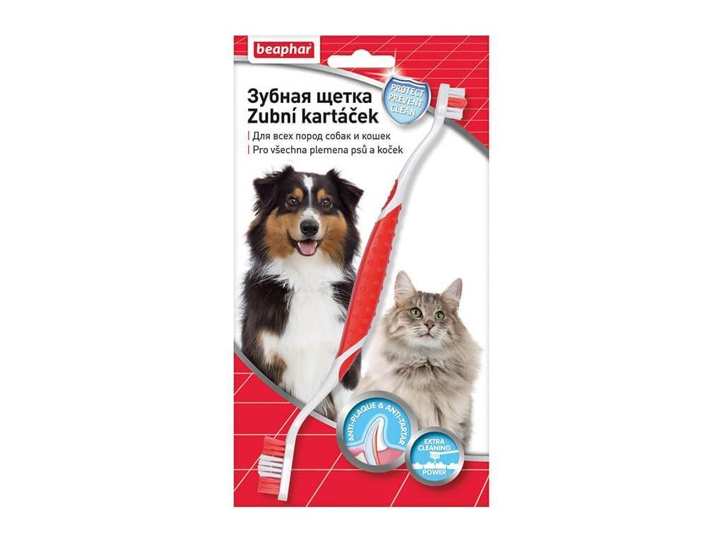 Beaphar oboustranný zubní kartáček pro psa - vsepropejska.cz
