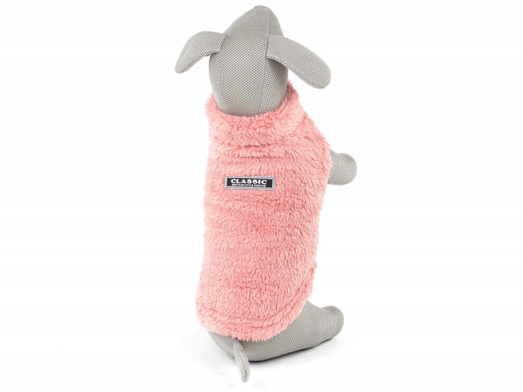 Olivia růžová fleecová mikina pro psa na ZIP - mikiny pro psy - vsepropejska.cz