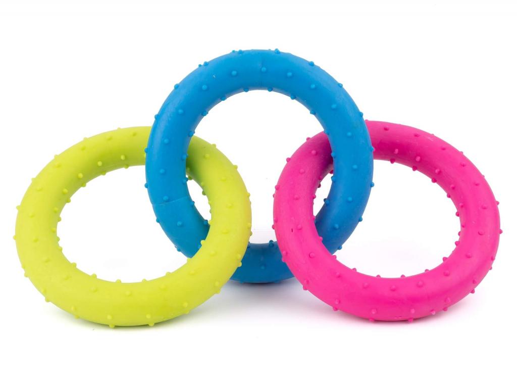Circles barevné gumové přetahovadlo | 18 cm - hračky pro psa - vsepropejska.cz