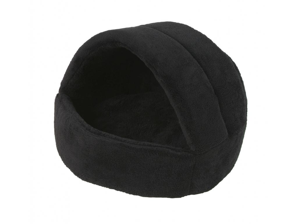 Coral černé iglú pro psa z fleecu - kukaně pro psy - vsepropejska.cz