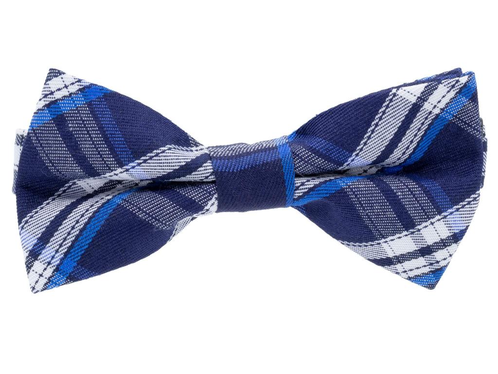 Harvard modrý károvaný motýlek pro psa - motýlky pro psy - vsepropejska.cz