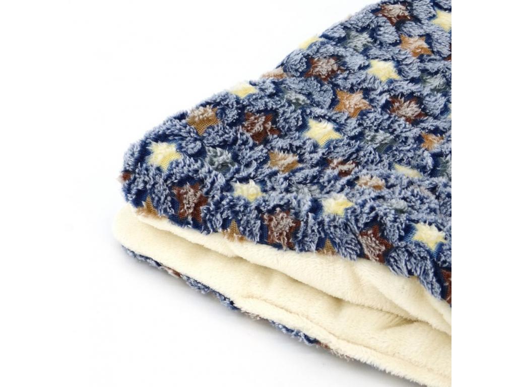 blanket modra deka pro psa s hvezdickami