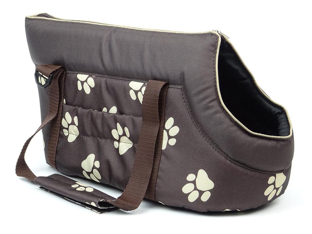 Nice hnědá taška pro psa tlapka - tašky pro psy - vsepropejska.cznice hneda tlapka taska pro psa